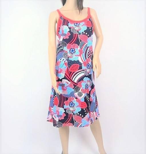 a572aea9c6 Sukienka Plażowa Bwłn. LISTECZKI W KROPECZKI N 1XL - Sukienki ...