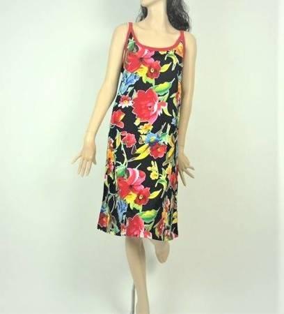 Sukienka Plażowa Bawełna DECOUPAGE 1XL