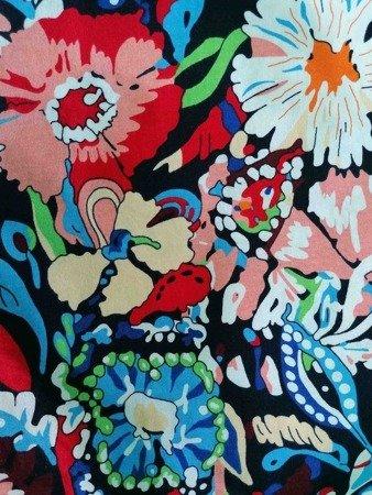 Sukienka Plażowa Bawełna KWIATY POP KOLOR 1XL