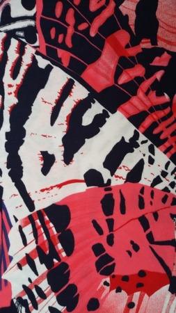 Sukienka Plażowa Bawełna SKRZYDŁA MOTYLA RED 3XL