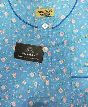 koszula nocna klasyczna FLANELOWA LAZUR M-XXL