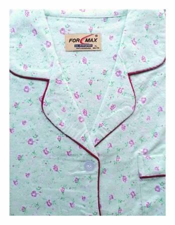 piżama damska tradycyjna FLANELOWA PISTACJA M-XXXL