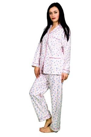 piżama damska tradycyjna FLANELOWA RÓŻOWA