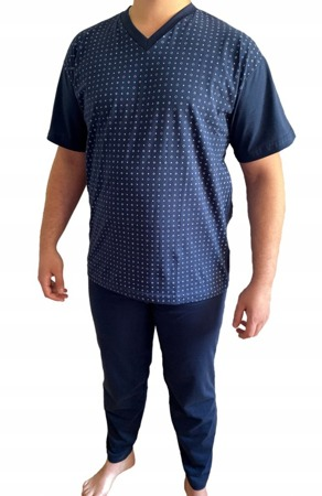 piżama męska KAROL - GRANAT M-5XL