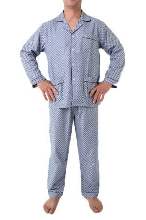 piżama męska flanelowa ODCIENIE POPIELU M-5XL