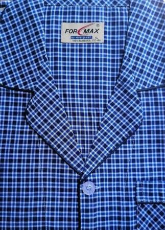 piżama męska rozpinana KRATKA GRANAT/KOBALT M-5XL