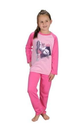 piżamka dziewczęca OCIEPLANA RÓŻ 86 cm - 158 cm